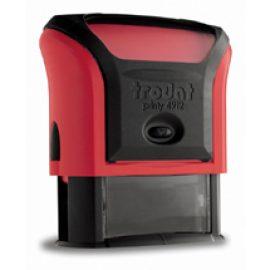 tiskarna matrica štampiljka rdeča